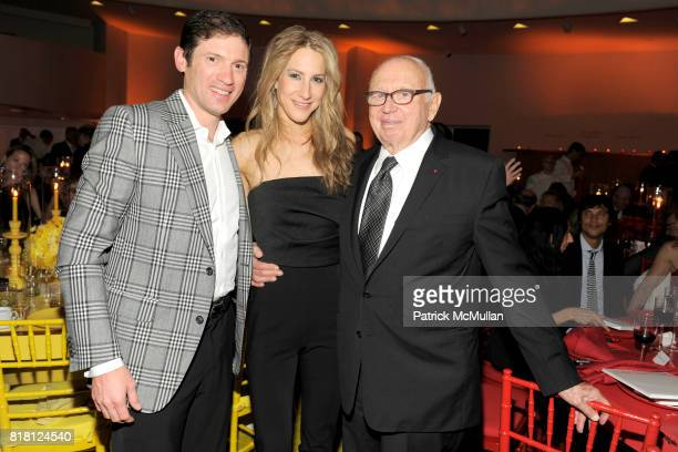 Glenn Fuhrman Amanda Fuhrman and Ellsworth Kelly attend 2010 GUGGENHEIM International Gala at Solomon R Guggenheim Museum on November 8 2010 in New...