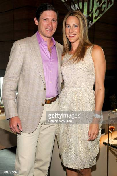 Glenn Fuhrman and Amanda Steck attend AMY JOHN PHELAN host wineCRUSH 2009 for the ASPEN ART MUSEUM at Phelan Residence on August 5 2009 in Aspen CO