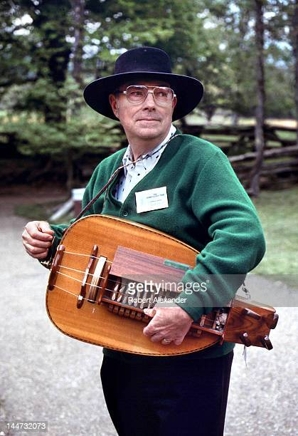Glenn Greene plays a hurdy gurdy for visitors to the annual Tennessee Fall Homecoming at the Museum of Appalachia in Norris Tennessee The annual...