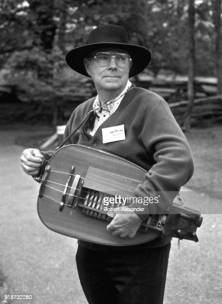 Glenn Greene plays his hurdygurdy at the Tennessee Fall Homecoming at the Museum of Appalachia in Norris Tennessee The hurdygurdy is a stringed...