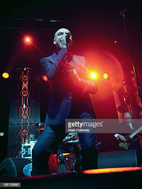 Glenn Gregory of Heaven 17 performs on stage at O2 Academy on November 1 2012 in Bournemouth United Kingdom