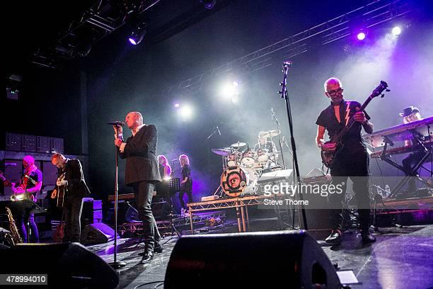 Glenn Gregory Woody Woodmansey and Tony Visconti perform at O2 Academy Birmingham on June 29 2015 in Birmingham United Kingdom