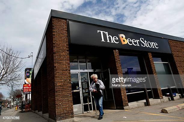 Glenn Hoffmann leaves The Beer Store near Queen Street East and Leslie Street
