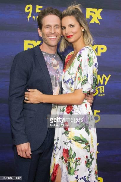 "Glenn Howerton and Jill Latiano arrive for the premiere of FXX's ""It's Always Sunny In Philadelphia"" Season 13 at Regency Bruin Theatre on September..."