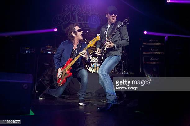 Glenn Hughes and Joe Bonamassa of Black Country Communion performs on stage at O2 Academy on July 26, 2011 in Leeds, United Kingdom.