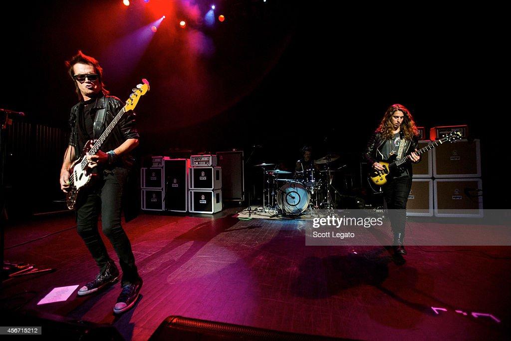 Glenn Hughes, Joey Castillo and Andrew Watt of California Breed performs at The Fillmore Detroit on October 5, 2014 in Detroit, Michigan.