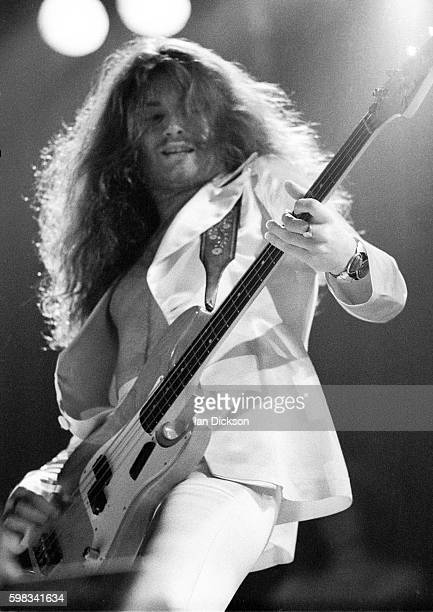 Glenn Hughes of Deep Purple performing on stage at Hammersmith Odeon London 09 April 1974