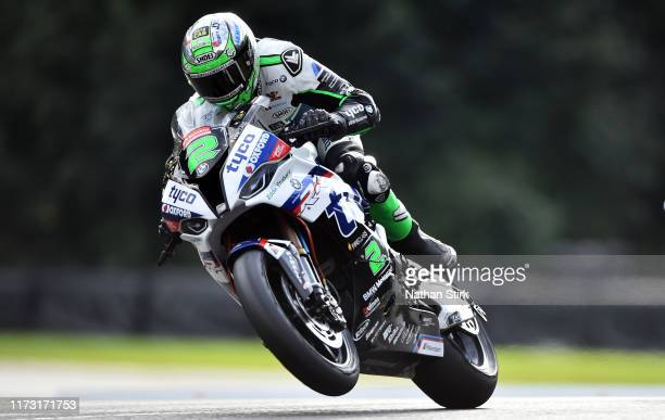 Glenn Irwin of Great Britain in action during the British Superbike Championship at Oulton Park on September 08, 2019 in Chester, England.