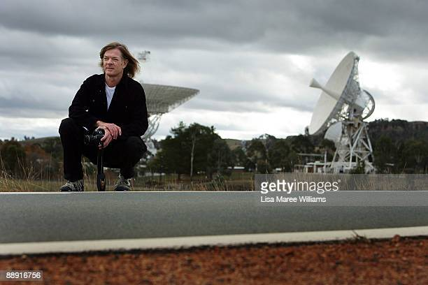 Glenn Krawczyk film director and producer of 'One Small StepThe Australian Story' is pictured near the DSS46 antenna which was originally constructed...