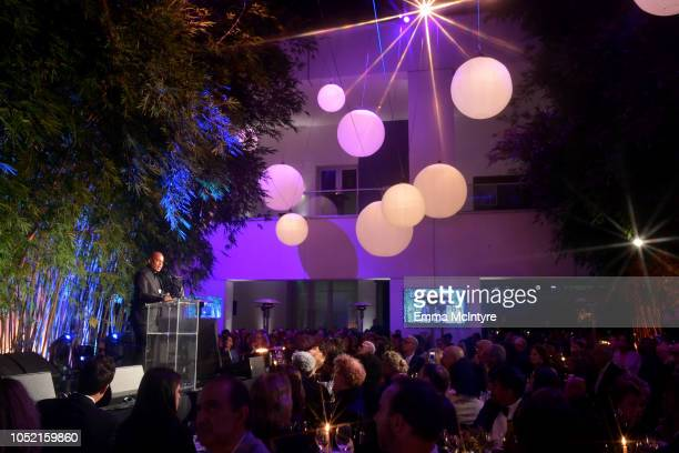 Glenn Ligon attends the Hammer Museum 16th Annual Gala in the Garden with generous support from South Coast Plaza at the Hammer Museum on October 14...