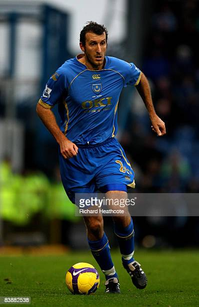 Glenn Little of Pomey in action during the Barclays Premier League match between Portsmouth and Blackburn Rovers at Fratton Park on November 30 2008...