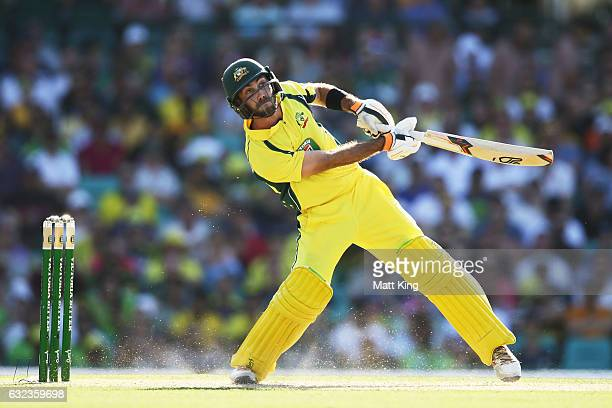 Glenn Maxwell of Australia bats during game four of the One Day International series between Australia and Pakistan at Sydney Cricket Ground on...