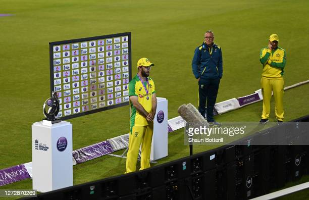 Glenn Maxwell of Australia is interviewed by Sky Sports after the 3rd Royal London One Day International Series match between England and Australia...