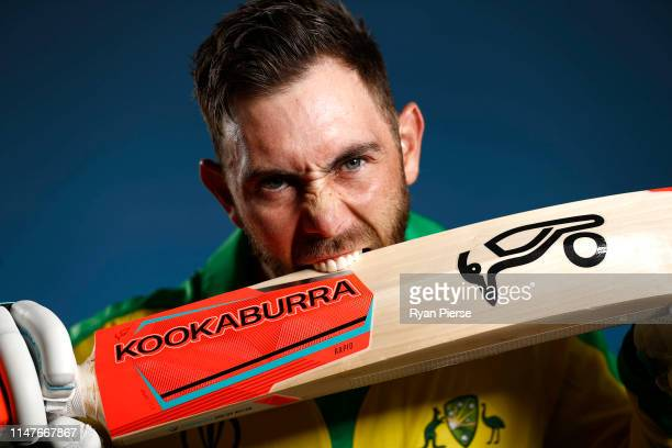 Glenn Maxwell of Australia poses during an Australia ICC One Day World Cup Portrait Session on May 07, 2019 in Brisbane, Australia.
