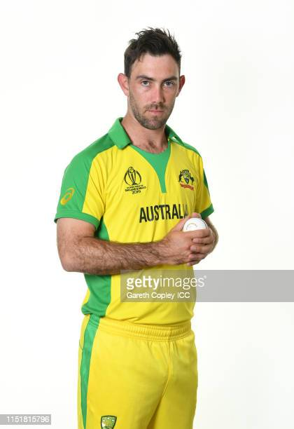 Glenn Maxwell of Australia poses for a portrait prior to the ICC Cricket World Cup 2019 at on May 26, 2019 in Southampton, England.