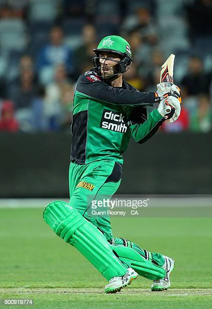 Glenn Maxwell of the Stars bats during the Big Bash League exhibition match between the Melbourne Stars and the Melbourne Renegades at Simonds...