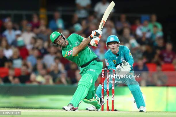 Glenn Maxwell of the Stars bats during the Big Bash League Match between the Brisbane Heat and the Melbourne Stars at Metricon Stadium on December...