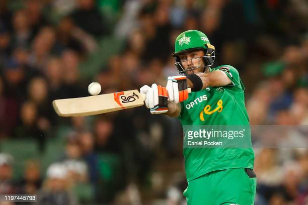 Glenn Maxwell of the Stars bats during the Big Bash League match between the Melbourne Stars and the Melbourne Renegades at the Melbourne Cricket...