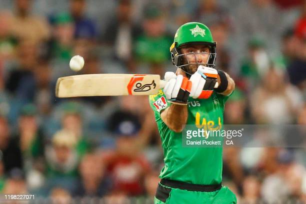 Glenn Maxwell of the Stars bats during the Big Bash League match between the Melbourne Stars and the Sydney Thunder at the Melbourne Cricket Ground...