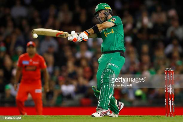 Glenn Maxwell of the Stars bats during the Big Bash League match between the Melbourne Renegades and the Melbourne Stars at Marvel Stadium on January...