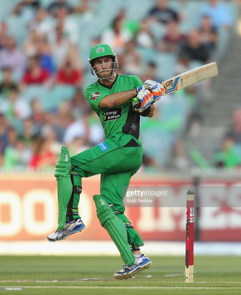 Glenn Maxwell of the Stars bats during the Big Bash League match between the Melbourne Stars and the Sydney Sixers at Melbourne Cricket Ground on December 21, 2012 in Melbourne, Australia.