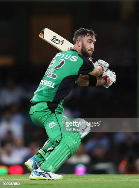 Glenn Maxwell of the Stars bats during the Big Bash League match between the Sydney Sixers and the Melbourne Stars at Sydney Cricket Ground on...