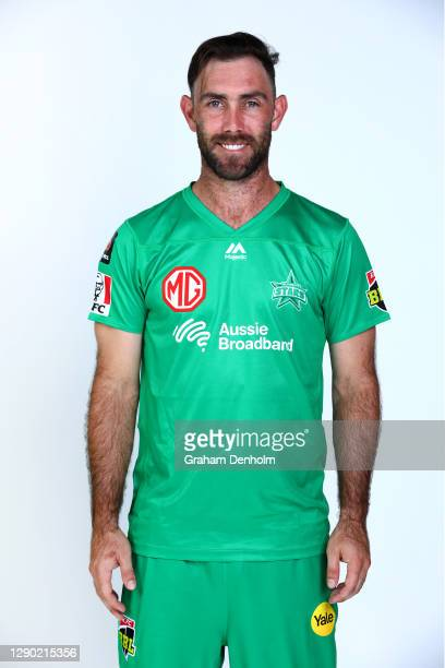 Glenn Maxwell of the Stars poses during the Melbourne Stars Big Bash League 2020/21 team headshots session at Junction Oval on December 09, 2020 in...