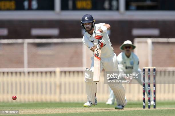Glenn Maxwell of Victoria bats during day one of the Sheffield Shield match between New South Wales and Victoria at North Sydney Oval on November 24...