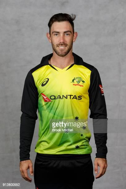 Glenn Maxwell poses during the Australian International Twenty20 headshots session at Sydney Cricket Ground on February 1 2018 in Sydney Australia