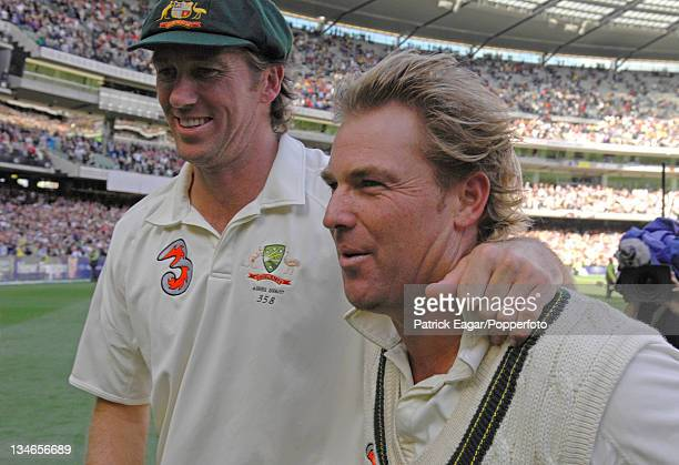Glenn McGrath and Shane Warne Australia v England 4th Test Melbourne Dec 06