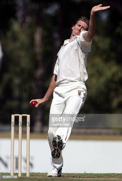 Glenn McGrath of the NT XI in action during day two of the Tour Match between the NT Chief Minister's XI and Sri Lanka played at Marrara Oval on June...