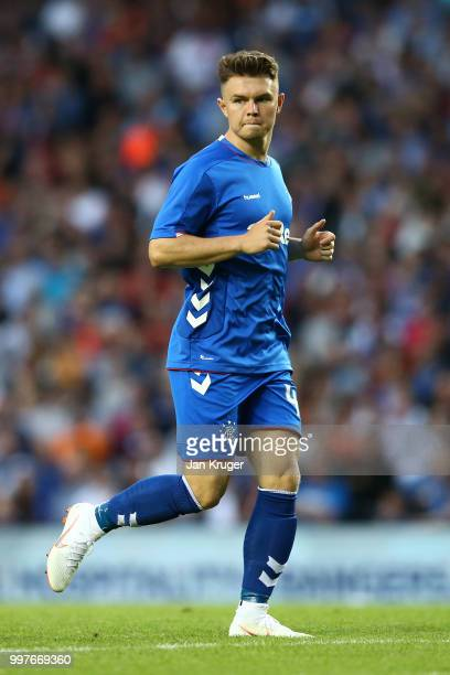 Glenn Middleton of Rangers in action during the UEFA Europa League Qualifying Round match between Rangers and Shkupi at Ibrox Stadium on July 12 2018...