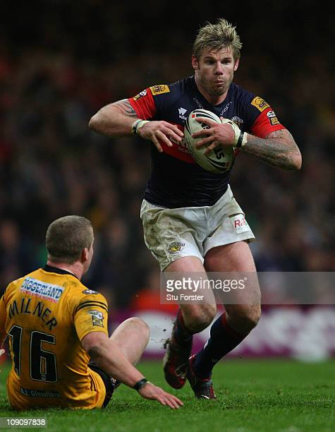 Glenn Morrison of the Wakefield Trinity Wildcats in action during the Engage Super League match between Castleford Tigers and Wakefield Trinity...