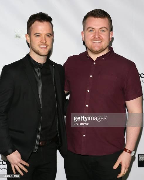 Glenn Murphy and Ronan Scolard attend the 12th Annual Oscar Wilde Awards at Bad Robot on February 23 2017 in Santa Monica California