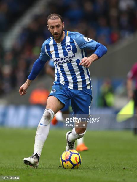 Glenn Murray of Brighton and Hove Albion during the Premier League match between Brighton and Hove Albion and Arsenal at Amex Stadium on March 4 2018...