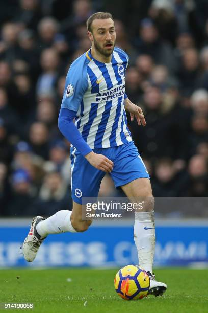 Glenn Murray of Brighton and Hove Albion in action during the Premier League match between Brighton and Hove Albion and West Ham United at Amex...