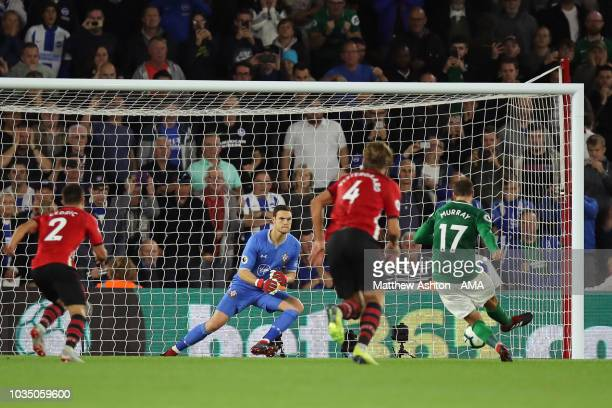 Glenn Murray of Brighton and Hove Albion scores a goal to make it 22 during the Premier League match between Southampton FC and Brighton Hove Albion...