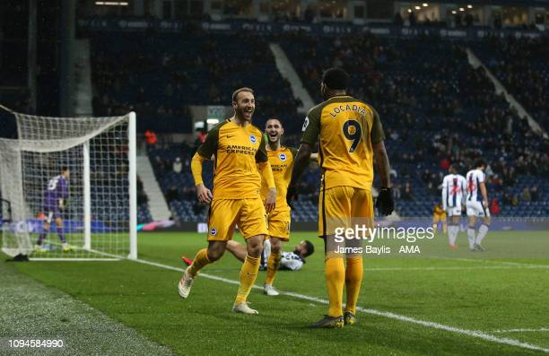 Glenn Murray of Brighton Hove Albion celebrates with his team mates after scoring a goal to make it 12 during the FA Cup Fourth Round Replay match...