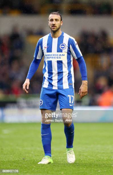 Glenn Murray of Brighton Hove Albion during the Sky Bet Championship match between Wolverhampton Wanderers and Brighton Hove Albion at Molineux on...