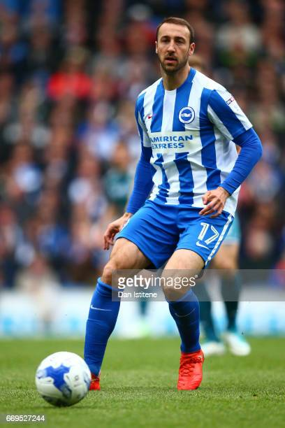 Glenn Murray of Brighton Hove Albion in action during the Sky Bet Championship match between Brighton Hove Albion and Wigan Athletic at Amex Stadium...