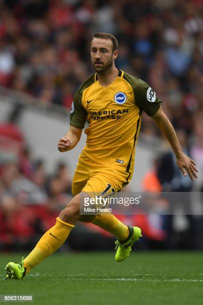 Glenn Murray of Brighton in action during the Premier League match between Arsenal and Brighton and Hove Albion at Emirates Stadium on October 1 2017...