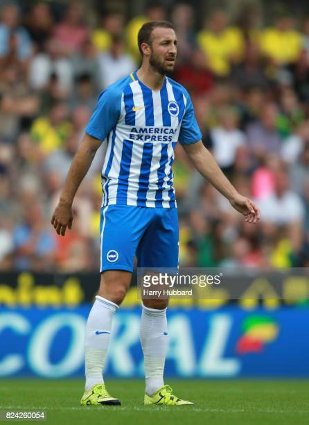 Glenn Murray of Brighton in action during the preseason friendly match between Norwich City and Brighton Hove Albion at Carrow Road on July 29 2017...