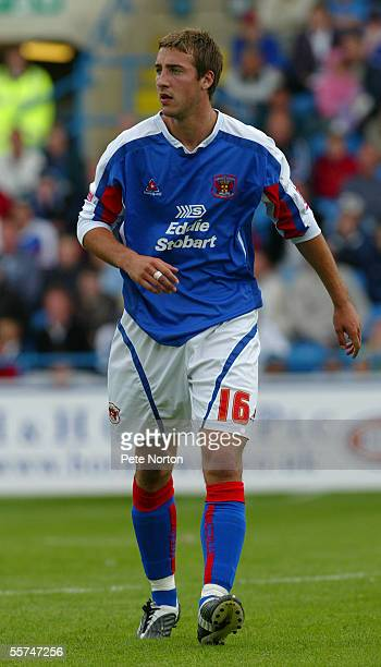 Glenn Murray of Carlisle United in action during the Coca Cola League Two match between Carlisle United and Northampton Town on August 27 2005 in...