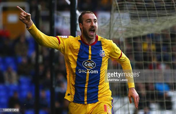 Glenn Murray of Crystal Palace celebrates his goal during the npower Championship match between Birmingham City and Crystal Palace at St Andrews on...