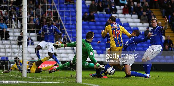 Glenn Murray of Crystal Palace scores a goal during the npower Championship match between Birmingham City and Crystal Palace at St Andrews on...