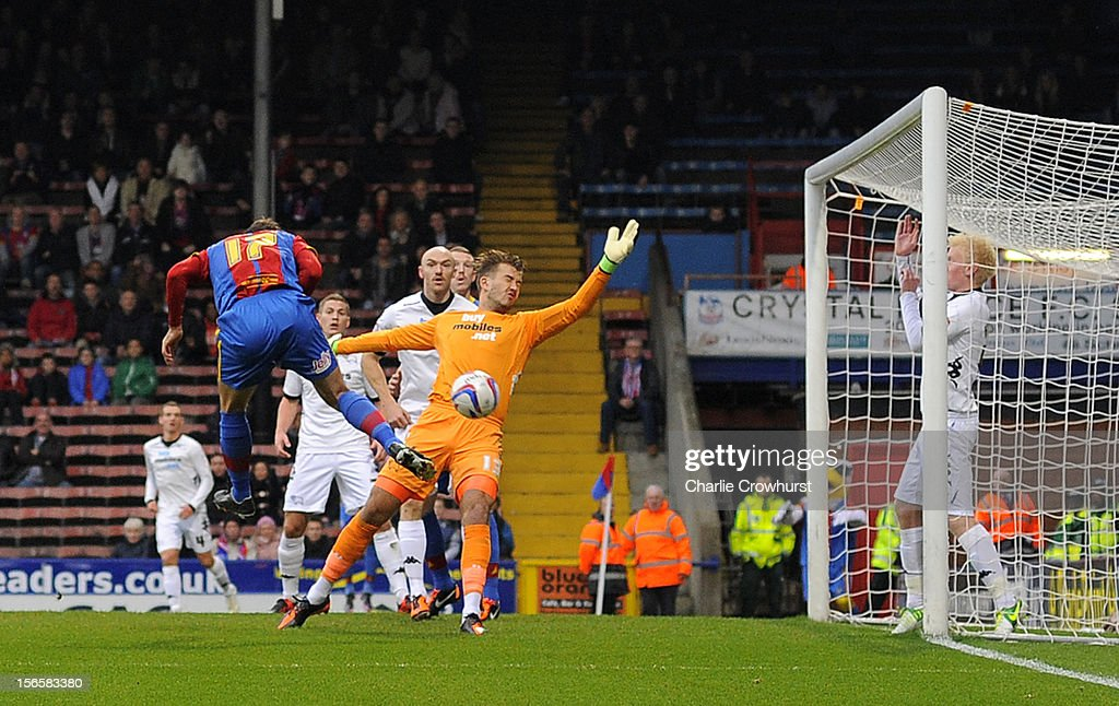 Glenn Murray of Crystal Palace scores the first goal of the game during the npower Championship match between Crystal Palace and Derby County at Selhurst Park on November 17, 2012 in London, England.