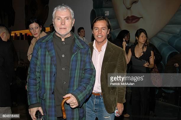 Glenn O'Brien and Andy Spade attend FONDAZIONE PRADA party for TOM SACHS at PRADA Epicenter on November 13 2006 in New York City