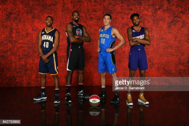 Glenn Robinson III of the Indiana Pacers DeAndre Jordan of the Los Angeles Clippers Aaron Gordon of the Orlando Magic and Derrick Jones Jr of the...