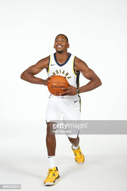 Glenn Robinson III of the Indiana Pacers poses for a portrait during the Pacers Media Day at Bankers Life Fieldhouse on September 25 2017 in...