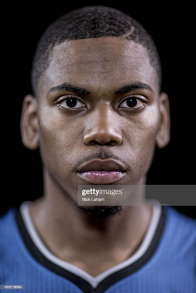 Glenn Robinson #22 of the MInnesota Timberwolves poses for a portrait during the 2014 NBA rookie photo shoot at MSG Training Center on August 3, 2014 in Tarrytown, New York.